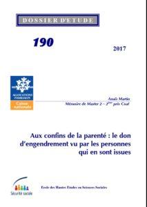Couverture du n°190 des Dossiers d'études