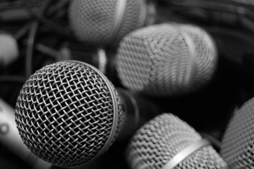Collection de microphones